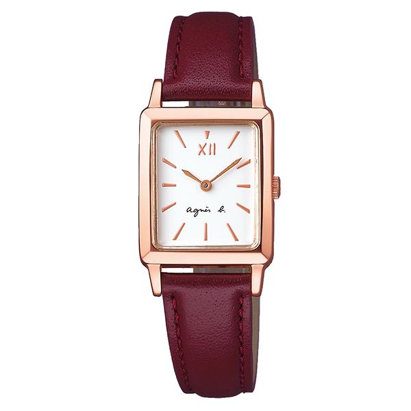 【国内正規品】 アニエスベー マルチェロ agnes b. marcello 時計 腕時計 34×21mm ピンクゴールド×ボルドー FCSK936 レディース アニエス・ベー アニエスb. 【送料無料】