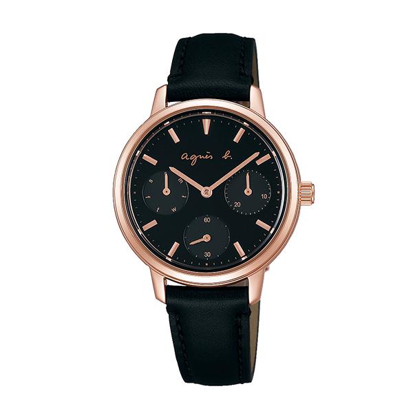 【国内正規品】 アニエスベー カレンダー agnes b. 時計 腕時計 32mm ピンクゴールド×ブラック FCST990 レディース アニエス・ベー アニエスb. 【送料無料】あす楽対応