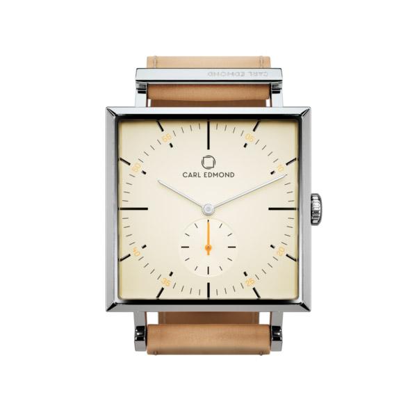 カールエドモンド CARL EDMOND グラニット Granit 【29mm】 メンズ レディース G2953-N18 ベージュダイヤル×スクエアケース ナチュラルレザーベルト 腕時計 革 カール・エドモンド【送料無料】