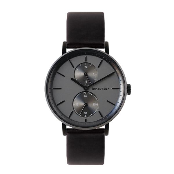【国内正規品】 イノベーター innovator Olika オーリカー 【39mm】 メンズ レディース 150421 IN-0004-3 グレー ブラックレザーベルト 腕時計 革 【送料無料】