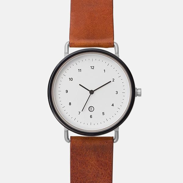 チーアンドチー chiandchi カレンダー メンズ レディース ユニセックス ブラック×ブラウン 腕時計 径40mm ESU EVERY SINGLE UNIT AT03【国内正規品】【送料無料】【ギフト包装無料】