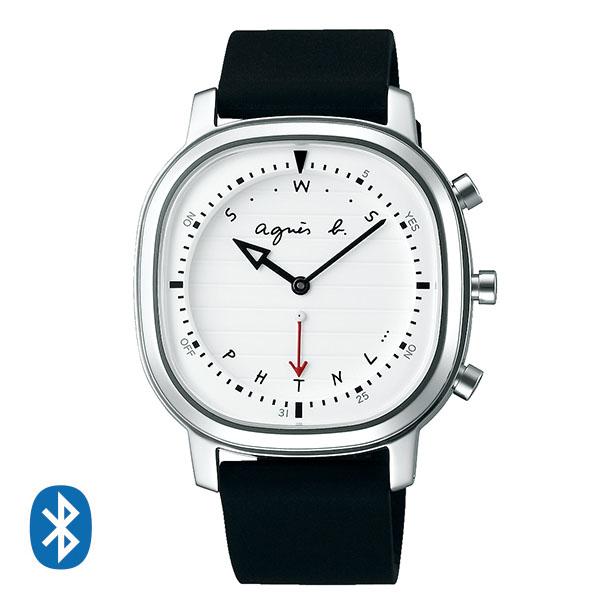 【2020年3月最新作】【国内正規品】 アニエスベー Bluetoothによる時刻修正機能 簡易ワールドタイム オム agnes b. 腕時計 39mm FCRB401 メンズ アニエス・ベー アニエスb. 【送料無料】
