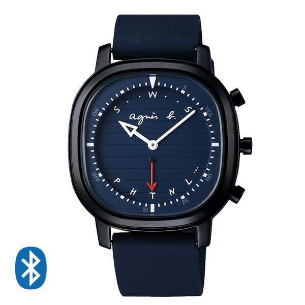 【国内正規品】 アニエスベー Bluetoothによる時刻修正機能 簡易ワールドタイム オム agnes b. 腕時計 39mm FCRB403 メンズ アニエス・ベー アニエスb. 【送料無料】