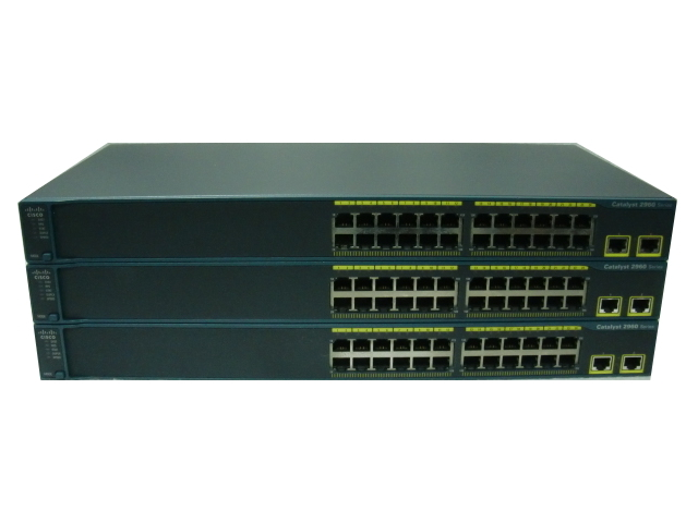 【中古】Cisco Catalyst 2960-24TT-L(WS-C2960-24TT-L) お買い得3台セット