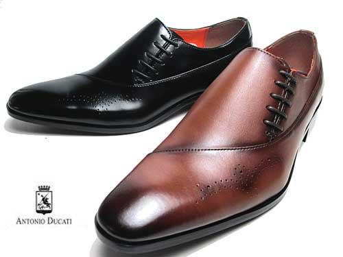 【あす楽】アントニオ デュカティ ANTONIO DUCATI サイドレース メダリオン ビジネスシューズ メンズ 靴