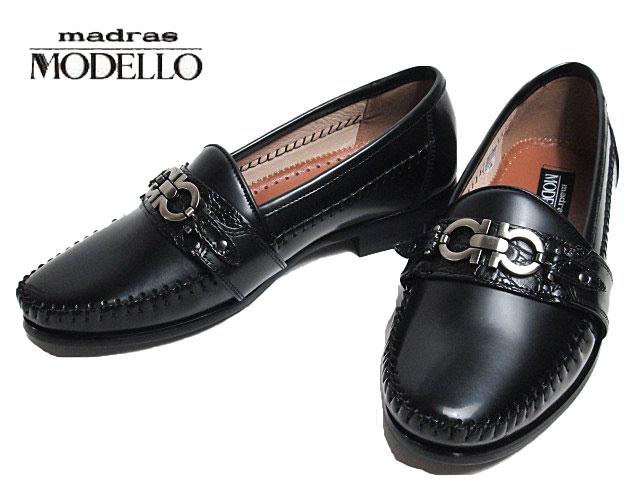 マッケイ製法で返りが良い靴 安心の定価販売 超人気 あす楽 マドラス モデロ madras MODELLO ビジネスシューズ メンズ 靴 DL6130 ビットローファー ブラック