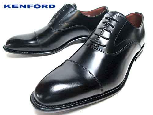 【あす楽】ケンフォード KENFORD ビジネスシューズ ストレートチップ ワイズ4E ブラック メンズ 大きいサイズ 靴