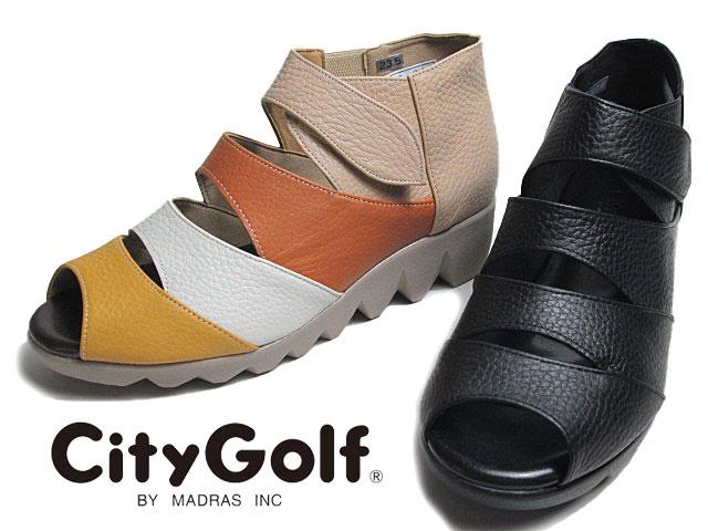 【あす楽】シティゴルフ City Golf GFL5285 4E オープントゥカジュアル コンフォートシューズ レディース 靴