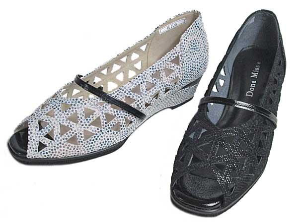 【あす楽】ドナミス Dona Miss オープントゥパンプス レディース 靴