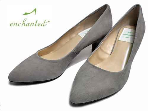 【あす楽】エンチャンテッド enchantedプレーンパンプスライトグレーS【レディース・靴】