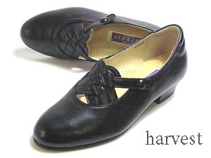 【あす楽】ハーベストharvest ミセスパンプス ワイズ4E カラー:ブラック【靴】