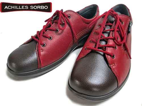 【あす楽】アキレスソルボ Achilles SORBO レースアップウォーキングシューズ レッド/コーヒー【レディース・靴】