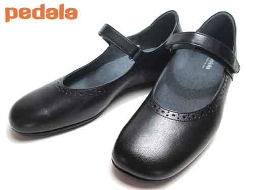 アシックス ペダラ asics Pedala ウォーキングストラップパンプス ブラック【あす楽】【レディース・靴】