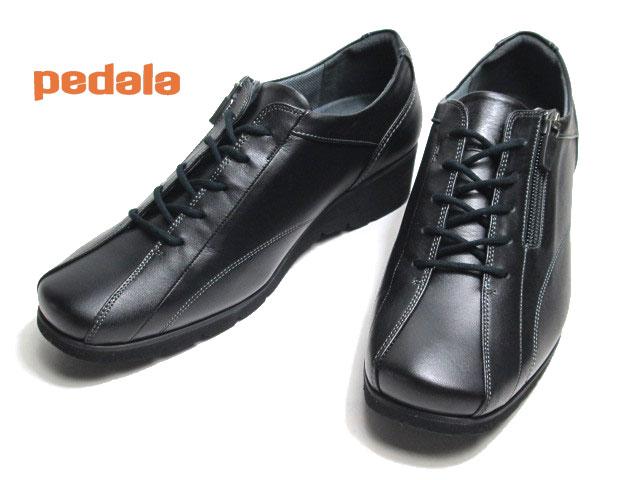 【あす楽】アシックス ペダラ asics Pedala WP677F 3E ファスナー付きウォーキングシューズ ブラック レディース 靴