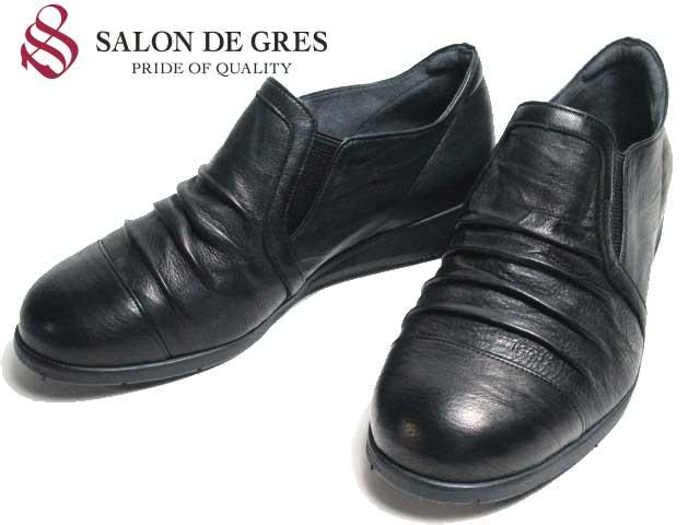 【あす楽】サロンドグレー SALON DE GRES SL5688 ワイズ5E クロ スリッポンシューズ レディース 靴