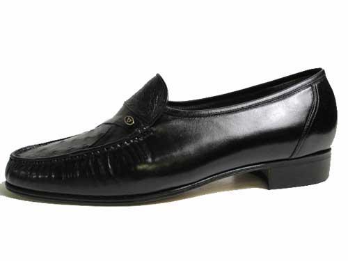 【あす楽】ボギー BOGEY ビジネスシューズ スリッポン オーストリッチ ブラック【メンズ・靴】