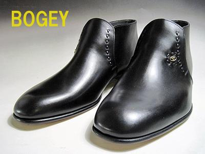 ボギー BOGEY メンズブーツ アンクルブーツ カラー:ブラック【靴】