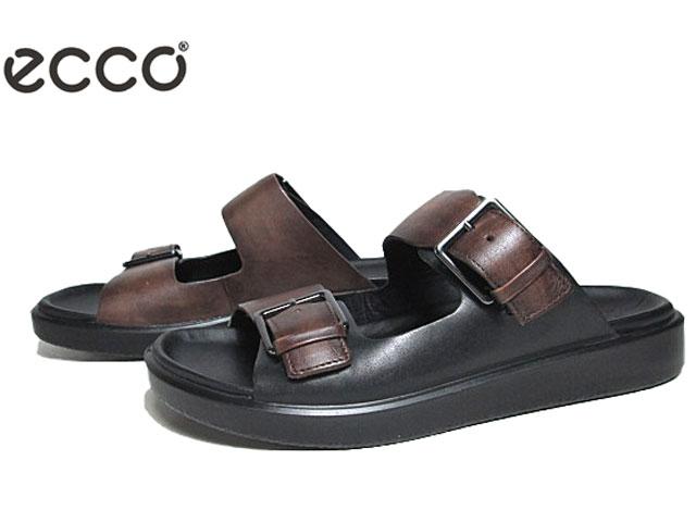 【あす楽】エコー ECCO FLOWT LX Mens Sports Sandal 273824 ココアブラウンブラック サンダル メンズ 靴