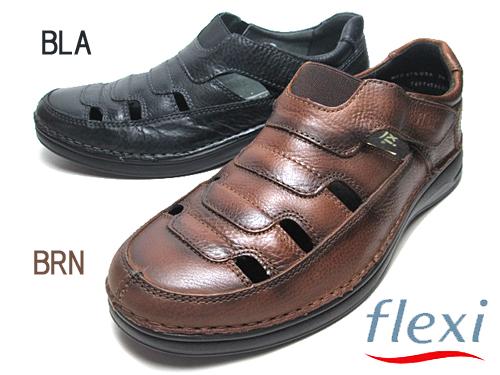 【あす楽】フレキシー flexi コンフォートサンダル カカト付サンダル サンダル メンズ 靴