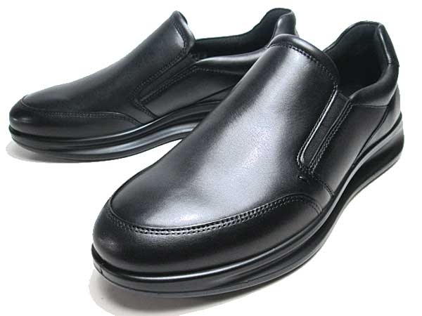 【優れた屈曲性とクッション性を発揮】 【ポイント10倍カード決済2020年3月20日限定】エコー ECCO AQUET 207144 スリッポン ブラック メンズ 靴