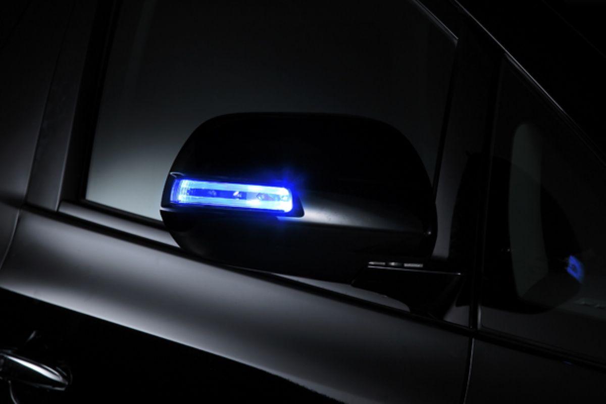 高級 アウトレット品 VALDY ヴァルディ ドアミラーウィンカー ブルー わくわくファイネスト 正規品 TypeB