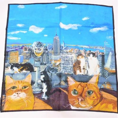 Manhattaner's マンハッタナーズ シルクスカーフ「見飽きないニューヨーク」