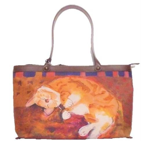 Manhattaner's マンハッタナーズ トラッド 手提げバッグ 「眠れるふわふわ」