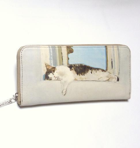 Manhattaner's マンハッタナーズ ラウンド長財布  「よい眠り」 「猫雑貨」「ネコグッズ」