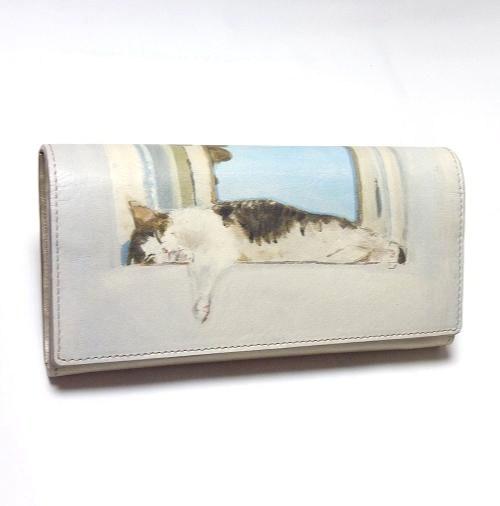 Manhattaner's マンハッタナーズ 長財布 「よい眠り」「猫雑貨」「ネコグッズ」