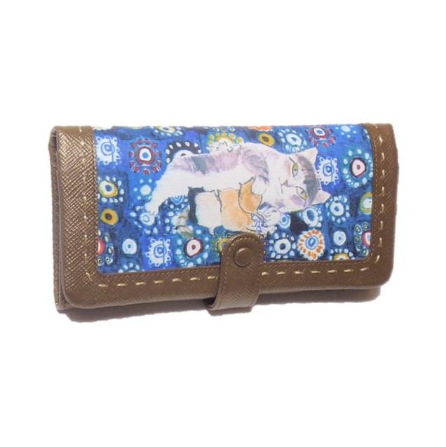Manhattaner's マンハッタナーズ かぶせタイプ 長財布 「ミケちゃん母さん」