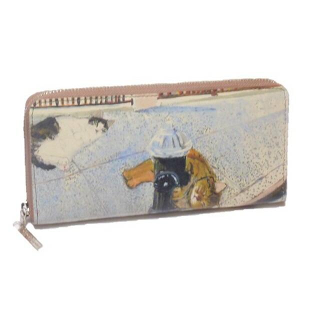 Manhattaner's マンハッタナーズ 長財布 ラウンド「消火栓の猫」