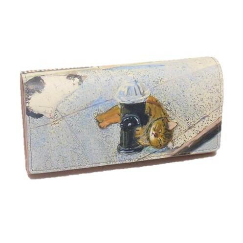 Manhattaner's マンハッタナーズ 長財布 かぶせタイプ「消火栓の猫」