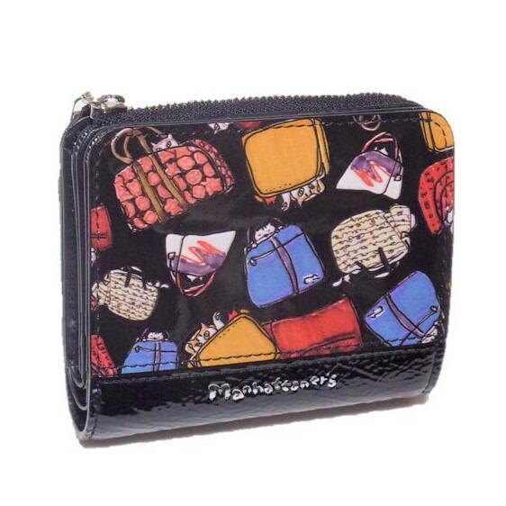 Manhattaner's マンハッタナーズ 2つ折り財布 「かばん猫」