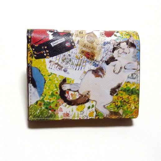 Manhattaner's マンハッタナーズ 2つ折り財布 「薫るマンハッタン」 「猫雑貨」「ネコグッズ」