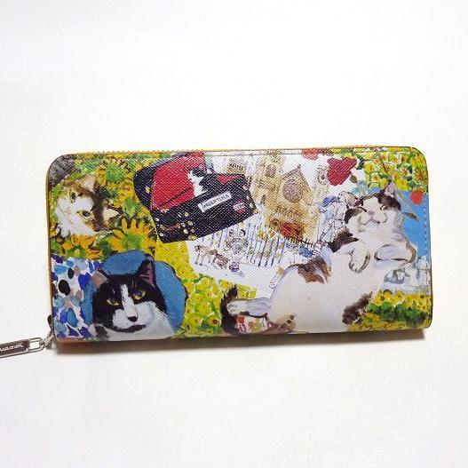 Manhattaner's マンハッタナーズ ラウンド長財布  「薫るマンハッタン」 「猫雑貨」「ネコグッズ」