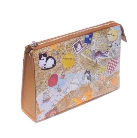 Manhattaner's マンハッタナーズ ライブリーパース お財布ポシェット 「大ニューヨーク誕生の頃」