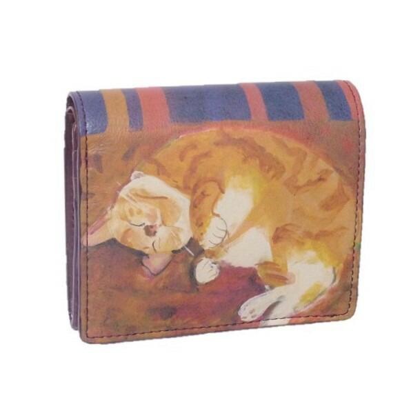 Manhattaner's マンハッタナーズ 2つ折り財布 「眠れるふわふわ」 「猫雑貨」「ネコグッズ」