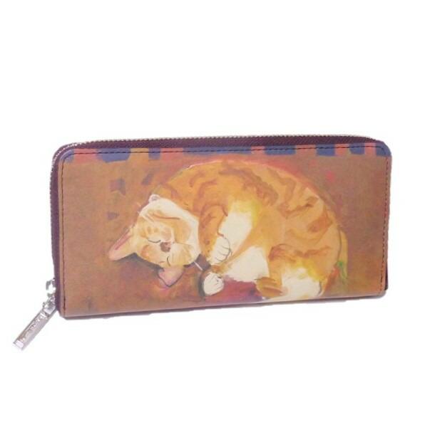 Manhattaner's マンハッタナーズ 長財布 ラウンド「眠れるふわふわ」 「猫雑貨」「ネコグッズ」