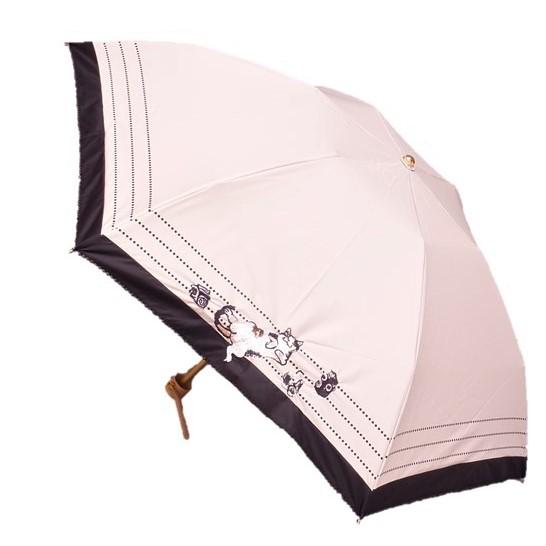 Manhattaner'sマンハッタナーズミニ晴雨兼用傘 日傘「猫とカメラ」 遮光