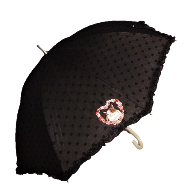 Manhattaner'sマンハッタナーズ晴雨兼用傘ショート日傘「永久なるフェデェリコ」 ブラック