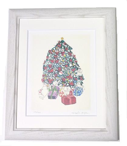 マンハッタナーズ 版画「ニャオンのクリスマス」