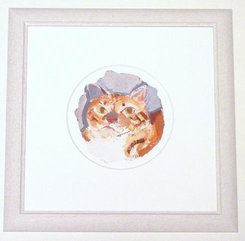 マンハッタナーズ版画 「丸い愛猫とNYシゲオ」