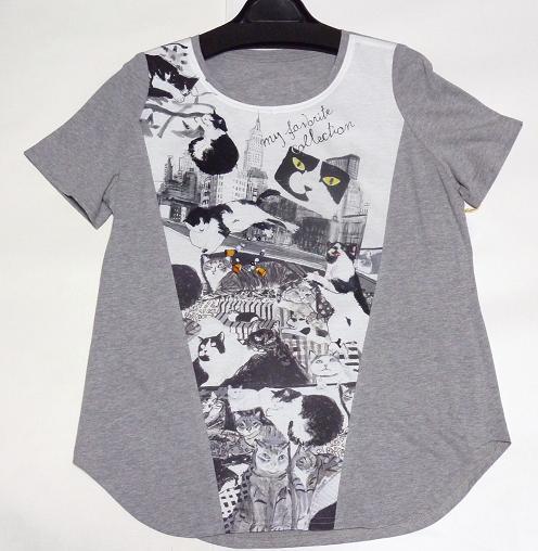マンハッタナーズ  Tシャツ カットソーブラウス 「猫18 BWコレクション」