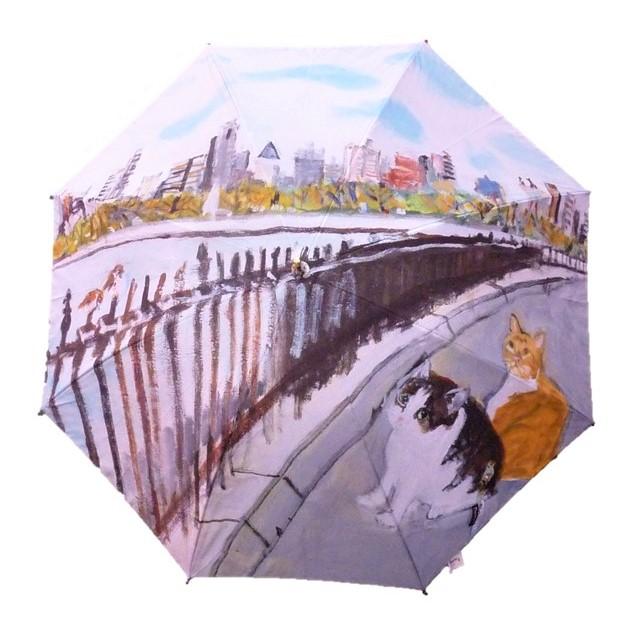 Manhattaner'sマンハッタナーズ長傘 1枚絵「セントラルパークとも思われない広々とした貯水池の眺め」
