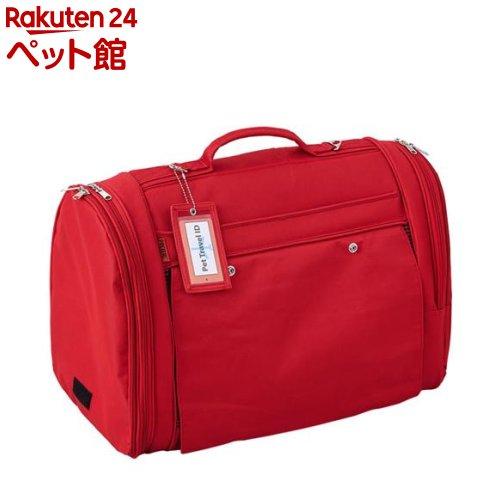 ペット用バックパックキャリー フルカバー レッド L -8kg(1コ)[爽快ペットストア]