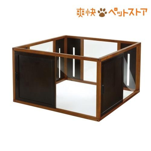 リッチェル 木製スクエアペットルーム 120-120 ダークブラウン(1コ入)【リッチェル】[爽快ペットストア]