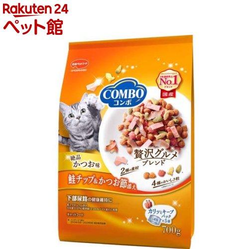 キャットフード コンボ COMBO 猫下部尿路の健康維持 かつお味 高級な 鮭チップ 爆売り 2106_mtmr 5袋入 かつお節添え 140g 爽快ペットストア