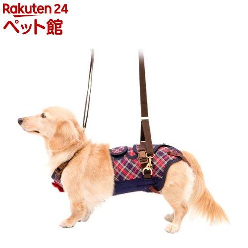 歩行補助ハーネスLaLaWalk 小型犬・ダックス用 チェックカーニバル L(1個)[爽快ペットストア]