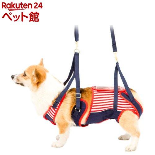 歩行補助ハーネスLaLaWalk 中型犬・コーギー用 セーラーマリン CL(1個)[爽快ペットストア]