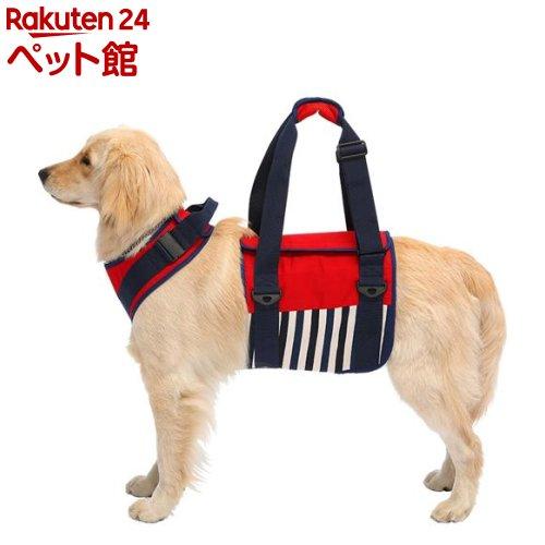 歩行補助ハーネスLaLaWalK 大型犬用 ナチュラルマリン SS(1個)[爽快ペットストア]